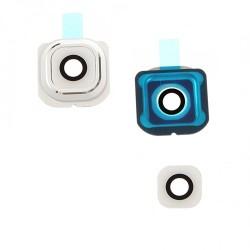 Lentille de protection caméra BLANC pour Samsung Galaxy S6 Edge photo 2