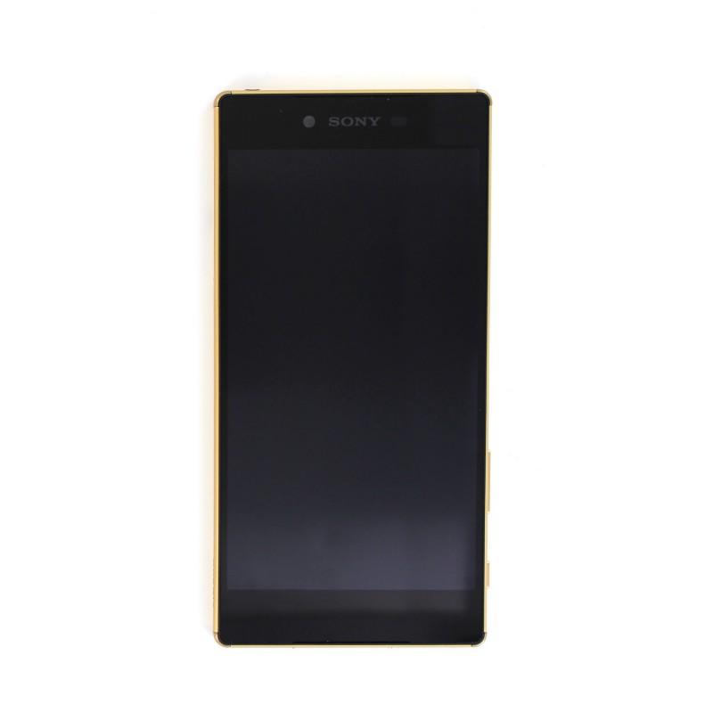 Bloc Ecran avec châssis pour Sony Xperia Z5 Premium Or photo 2