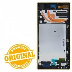Bloc Ecran avec châssis pour Sony Xperia Z5 Premium Or photo 3