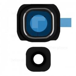 Lentille et contour Noir de caméra arrière pour Samsung Galaxy S6 photo 2