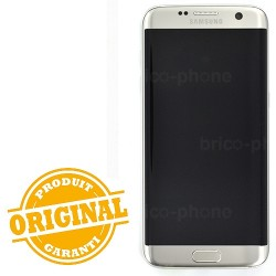 Ecran Amoled Argent et vitre prémontés pour Samsung Galaxy S7 Edge photo 2
