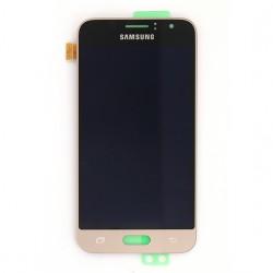 Ecran Amoled Or et vitre prémontés pour Samsung Galaxy J1 2016 photo 2