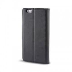 Housse portefeuille avec effet grainé Noir pour Samsung Galaxy S6 Edge photo 3