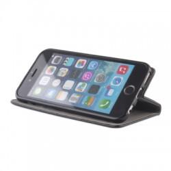 Housse portefeuille avec effet grainé Noir pour Samsung Galaxy S6 Edge photo 5