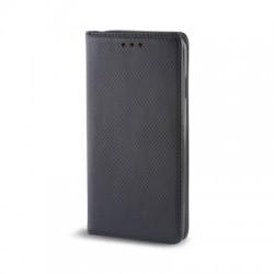 Housse portefeuille avec effet grainé Noir pour Samsung Galaxy J3 2016 photo 1