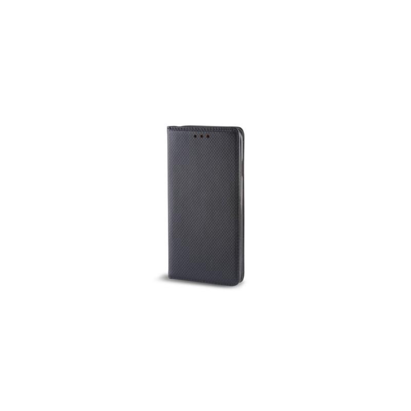 Housse portefeuille avec effet grainé Noir pour ASUS ZENFONE 2 photo 1