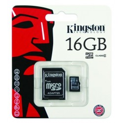 Carte mémoire microSDHC Classe 10 KINGSTON 16 Go photo 1
