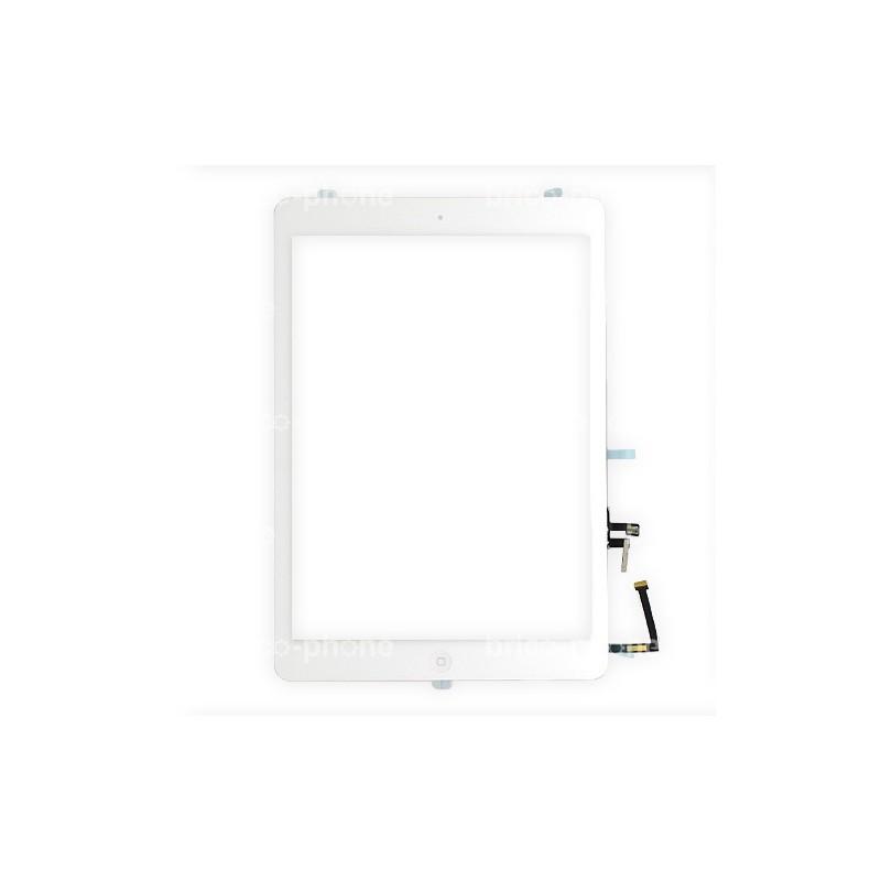 Vitre tactile complète PREMIUM pour iPad Air BLANCHE photo 2