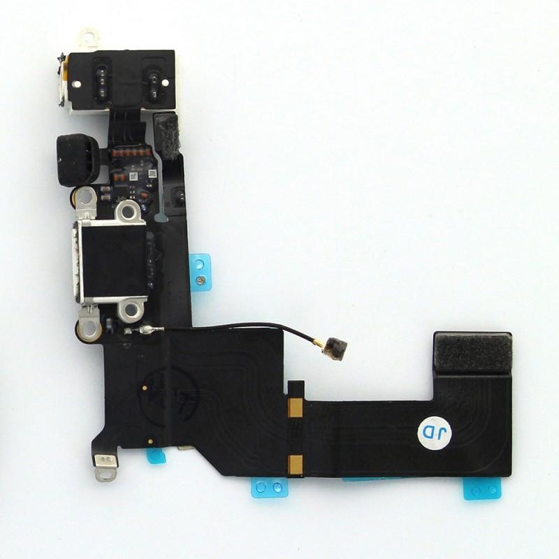 Connecteur de charge blanc avec jack et micro iPhone 5S photo 2