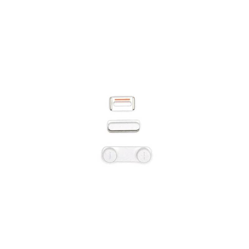 Lot de 3 boutons Bouton Power Mute et volume pour iPhone 5 Blanc photo 1