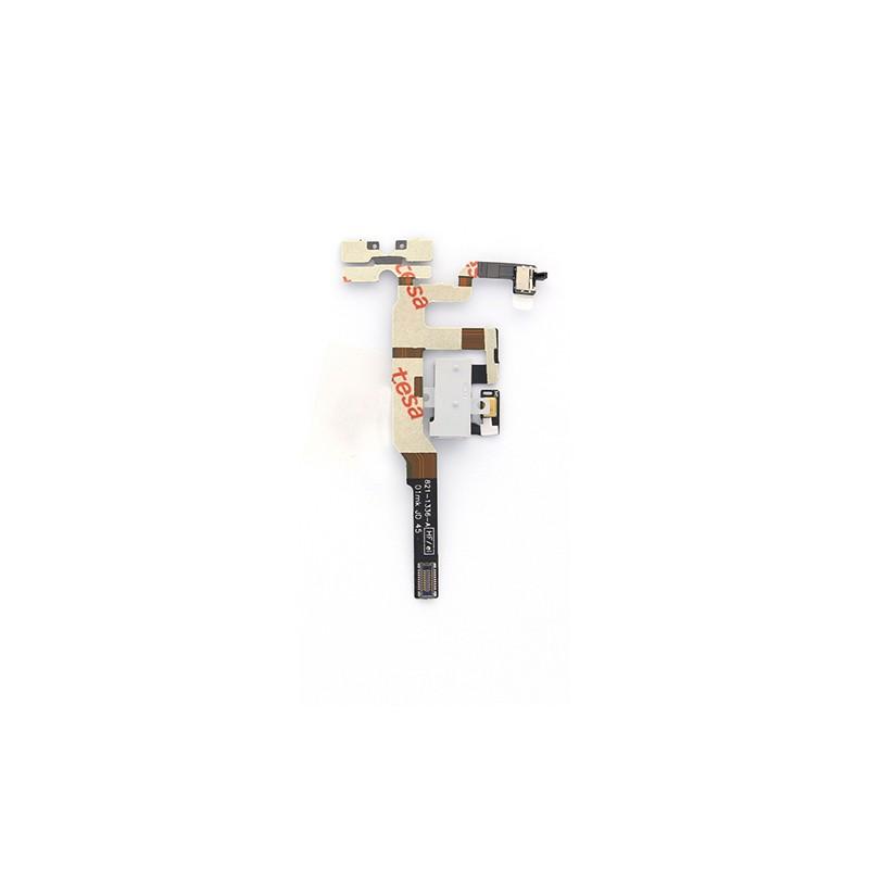 Nappe prise jack + mute et volume + micro d'ambiance pour un iPhone 4S Blanc photo 2