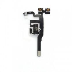 Nappe prise jack + mute et volume + micro d'ambiance pour un iPhone 4S Blanc photo 4