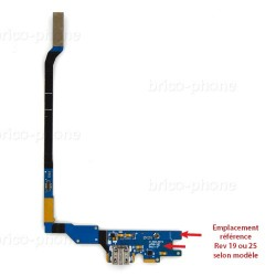 Connecteur de charge REV25 pour Samsung Galaxy S4 VE photo 2