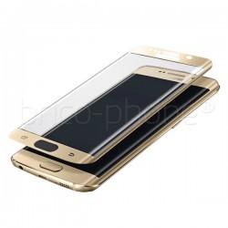 Protecteur d'écran en verre trempé incurvé GOLD pour Samsung Galaxy S7 Edge photo 2