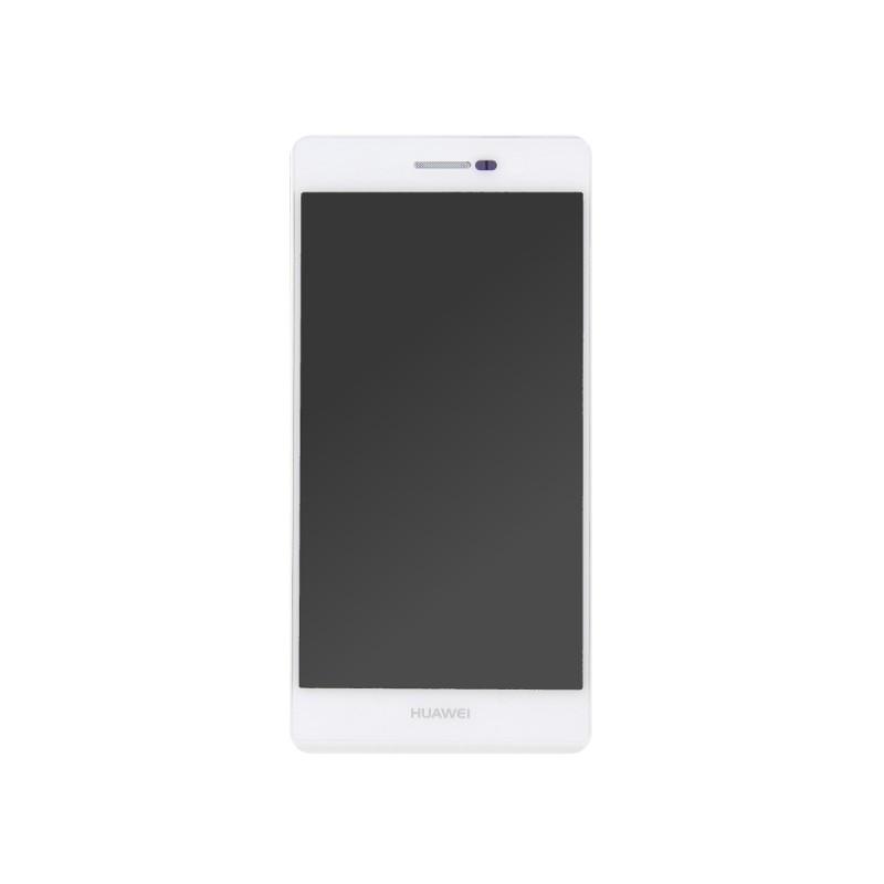 Bloc écran Blanc COMPLET prémonté sur châssis pour Huawei P7 photo 2