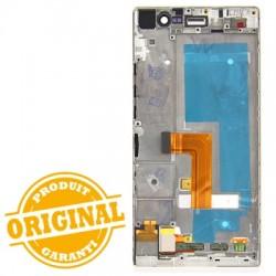 Bloc écran Blanc COMPLET prémonté sur châssis pour Huawei P7 photo 3
