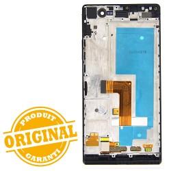 Bloc écran Noir COMPLET prémonté sur châssis pour Huawei P7 photo 3