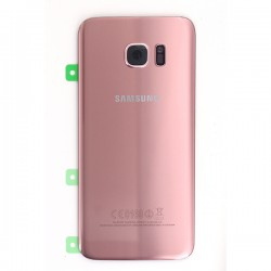 Vitre arrière Rose pour Samsung Galaxy S7 Edge photo 2