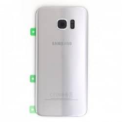 Vitre arrière Argent pour Samsung Galaxy S7 Edge photo 2