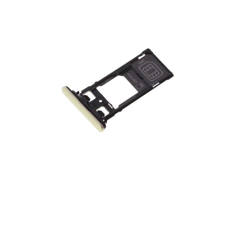 Rack tiroir cartes SIM et SD Or pour Sony Xperia X Performance Dual photo 2
