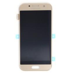 Bloc écran Or Amoled avec vitre prémontée pour Samsung Galaxy A3 2017 photo 2