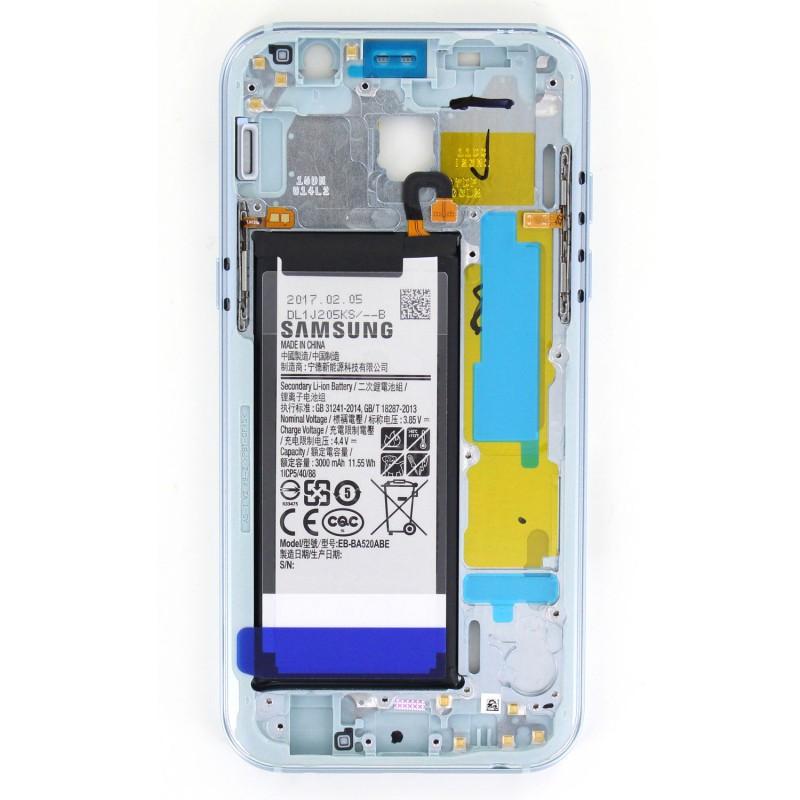 Châssis Intermédiaire avec batterie pour Samsung Galaxy A5 2017 BLeu photo 2