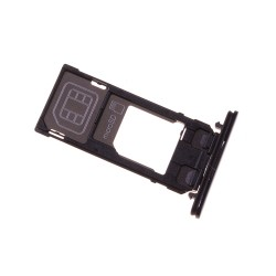 Rack tiroir cartes SIM et SD Noir pour Sony Xperia X Compact photo 2