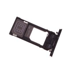 Rack tiroir cartes SIM et SD Noir pour Sony Xperia X Compact photo 1