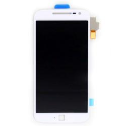 Ecran Blanc avec vitre et LCD pré assemblé pour Motorola Moto G4 Plus photo 2