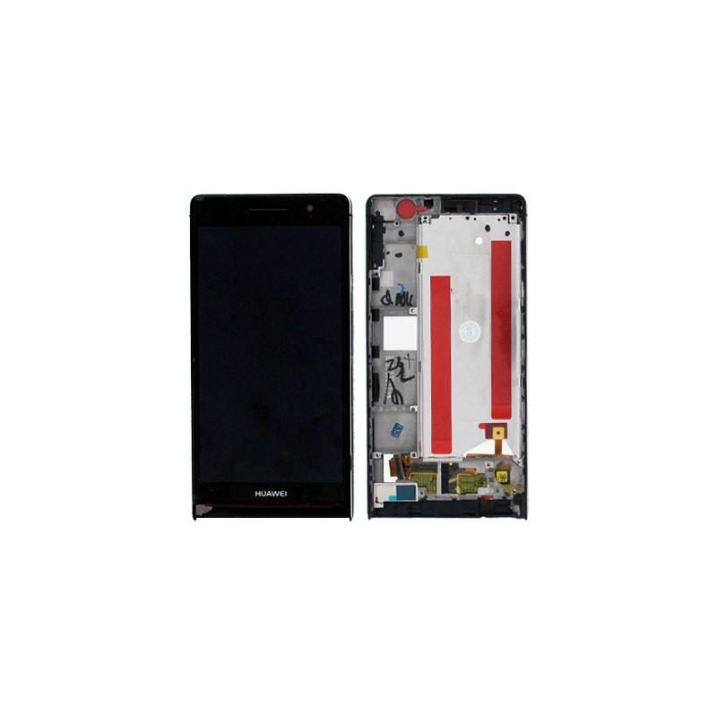 Bloc écran Noir COMPLET prémonté sur châssis pour Huawei P6 photo 2