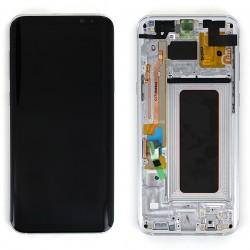 Bloc Ecran Amoled et vitre prémontés sur châssis pour Galaxy S8 Plus Argent Polaire photo 2