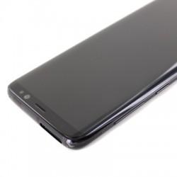 Bloc Ecran Amoled et vitre prémontés sur châssis pour Galaxy S8 Noir Carbone photo 4