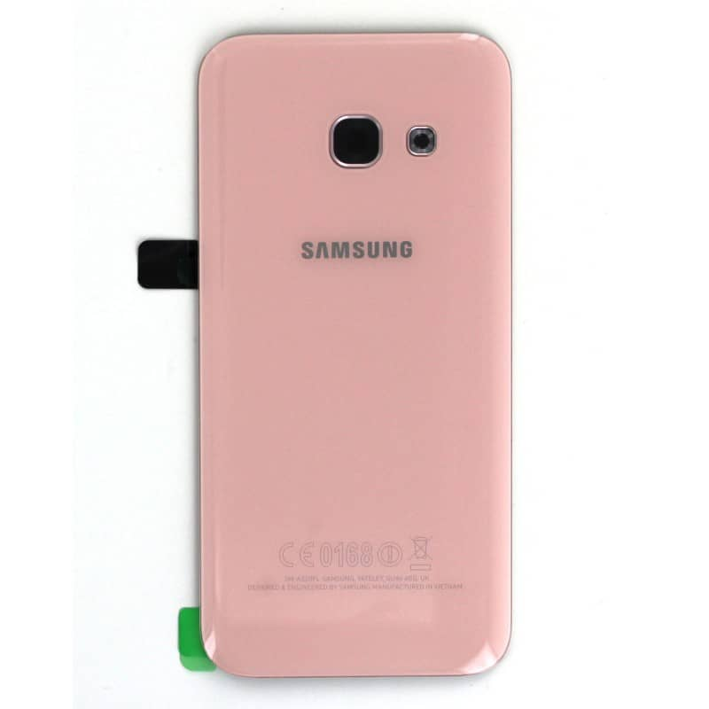 Vitre Arriere Rose Pour Samsung Galaxy A3 2017 Photo 2