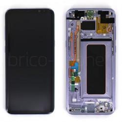 Bloc Ecran Amoled et vitre prémontés sur châssis pour Galaxy S8 Plus Violet Orchidée photo 2