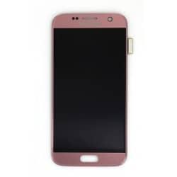 Ecran Amoled et vitre prémontés pour Samsung Galaxy S7 Rose photo 2