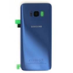 Vitre arrière pour Samsung Galaxy S8 Bleu Océan photo 2