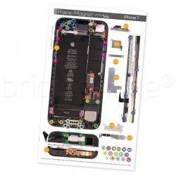 Patron magnétique d'aide au montage pas à pas pour iPhone 7 photo 2