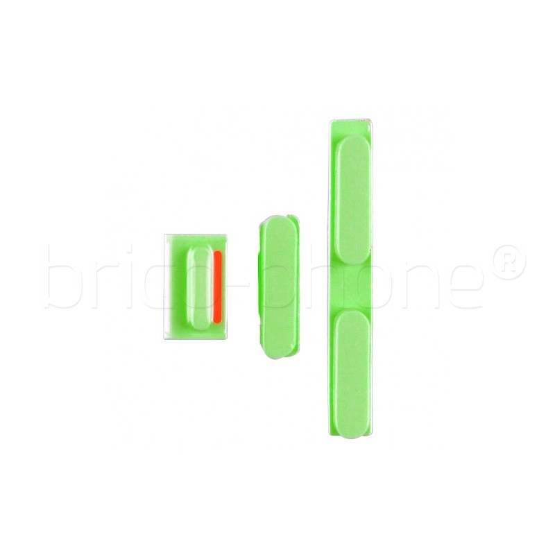 Lot de boutons pour iPhone 5C Vert photo 2