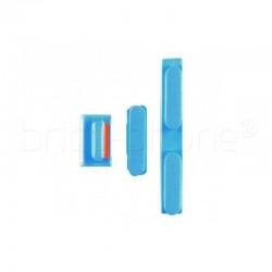 Lot de boutons pour iPhone 5C Bleu photo 2