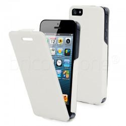 Etui à clapet Blanc pour iPhone 5 et 5S photo 2