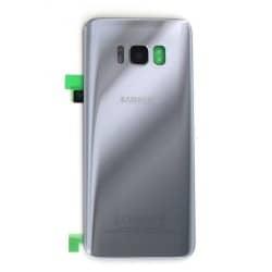Vitre arrière pour Samsung Galaxy S8 Argent Polaire photo 2