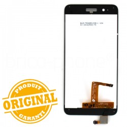 Ecran Blanc avec vitre et LCD sans châssis pour Huawei P8 Lite Smart (GR3) photo 3