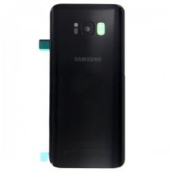 Vitre arrière pour Samsung Galaxy S8 Noir Carbone photo 2