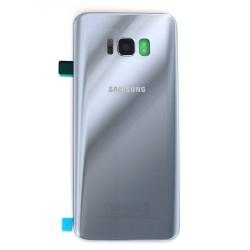 Vitre arrière pour Samsung Galaxy S8 Plus Argent Polaire photo 2
