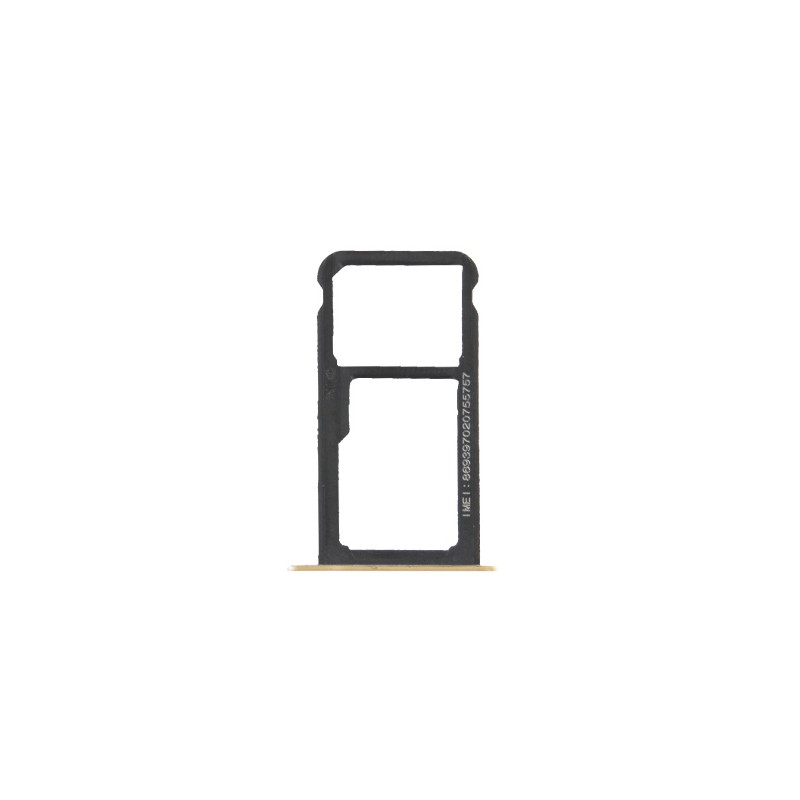 Rack tiroir cartes SIM et SD Or pour Huawei P9 Lite photo 2