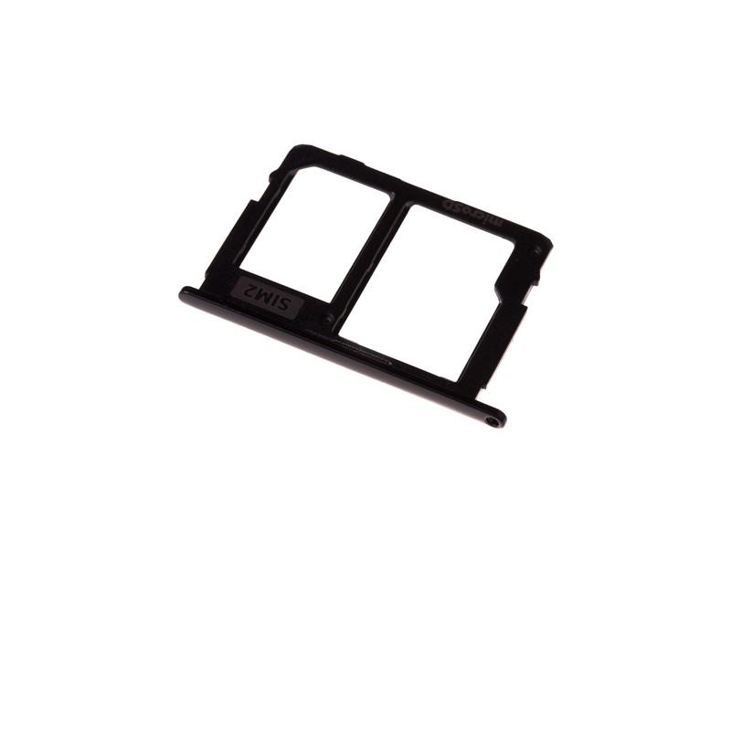 Rack tiroir pour cartes SIM 2 et SD Noir pour Samsung Galaxy J5 2017 et J7 2017 photo 2
