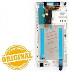 Bloc Ecran Blanc sur châssis pour Sony Xperia L1 / L1 Dual photo 3