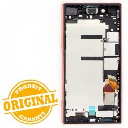 Bloc Ecran avec châssis pour Sony Xperia XZ Premium Rose photo 3