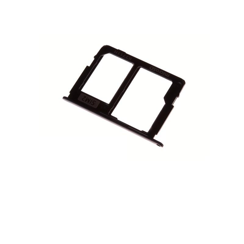 Rack tiroir pour cartes SIM 2 et SD Noir pour Samsung Galaxy J3 2017 Dual SIM photo 2