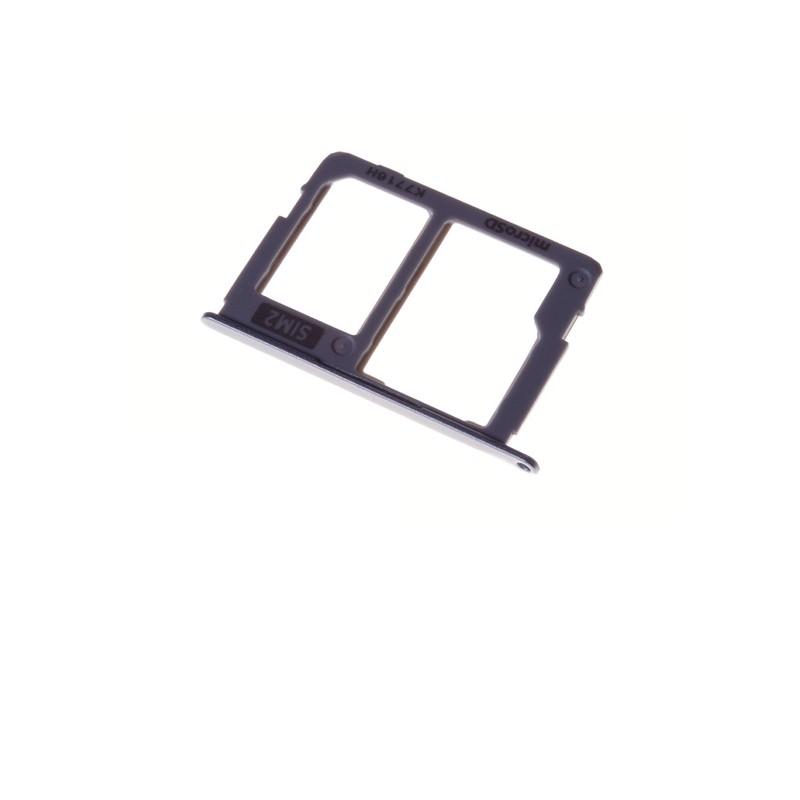 Rack tiroir pour cartes SIM 2 et SD Argent pour Samsung Galaxy J3 2017 Dual SIM photo 2